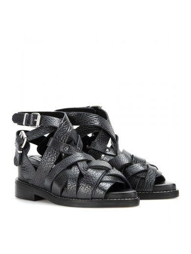 Lenna Leather Sandals www.sellektor.com