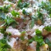 Салат с фасолью, шпротами и кукурузой – рецепт с фото