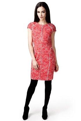 per una Speziale Cotton Rich Abstract Print Textured Dress