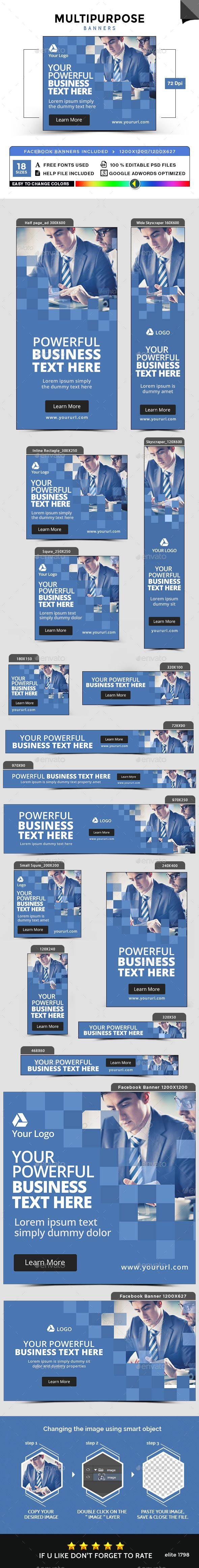 Multipurpose Banners Design Template - Banners & Ads Web Elements Template PSD. Download here: https://graphicriver.net/item/multipurpose-banners/17741106?s_rank=6&ref=yinkira