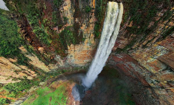 Interactive 360° Aerial Panorama of the Worlds Highest Waterfall in Venezuela