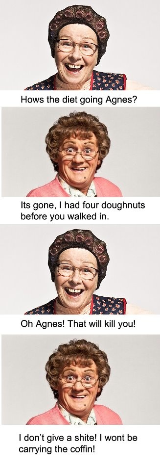 "by far the best line from mrs brown!!! BBC ""Mrs. Brown's boys"" funniest show ever!"