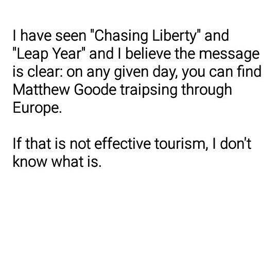 Love Leap Year!  And Chasing Liberty.  And Matthew Goode.  Hahaha.