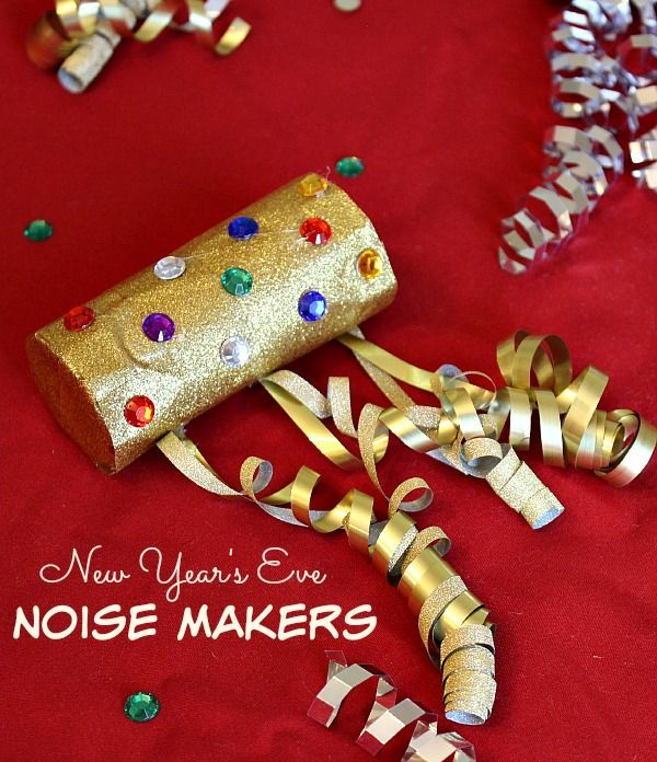 New Year's Eve Noise Maker Craft for Kids - The Adventures of J-Man and Millerbug