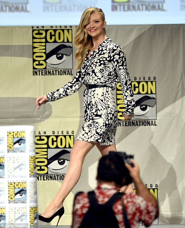 Funny stuff: Maisie's co-star Natalie Dorner, 32, attended the panel at the conference, wh...