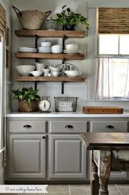 Open Shelves area a great item to add to kitchen designs. They can be a very functional way to have the items you use frequently ri...