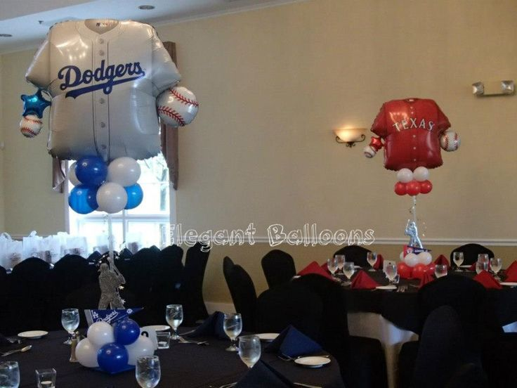 Love the Baseball Jersey Balloons