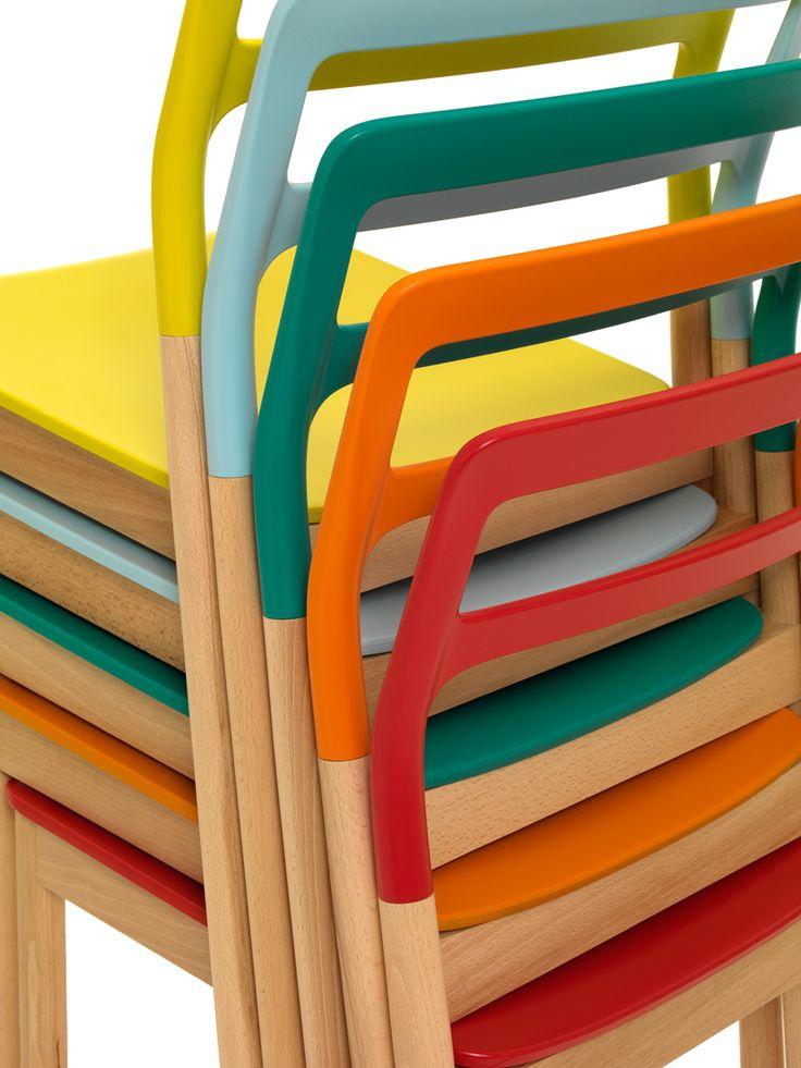 coloured chairs- monica förster + vincent van duysen for depadova