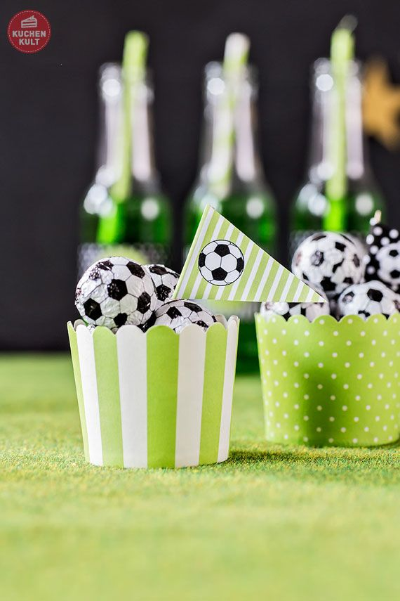 Stunning  Fu ball Party Deko Snacks soccer deco