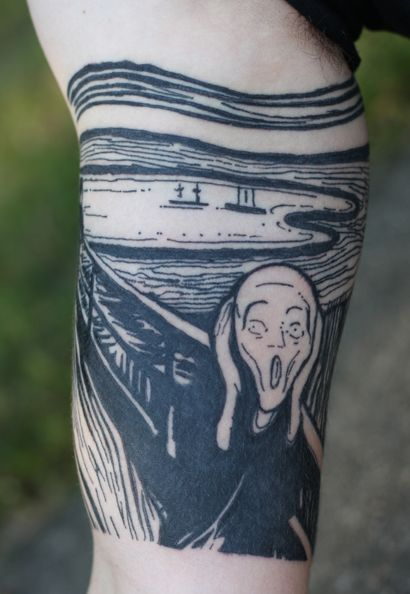 El grito. Eduard Munch Tattoo