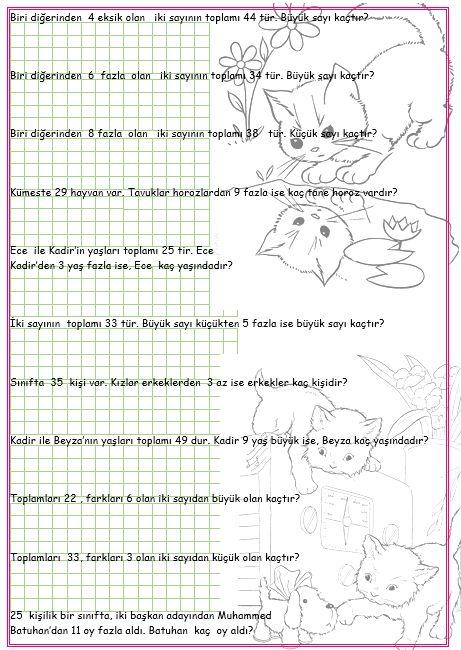 ilkokul ödevleri: 2. sınıf eksik fazla problemleri 3