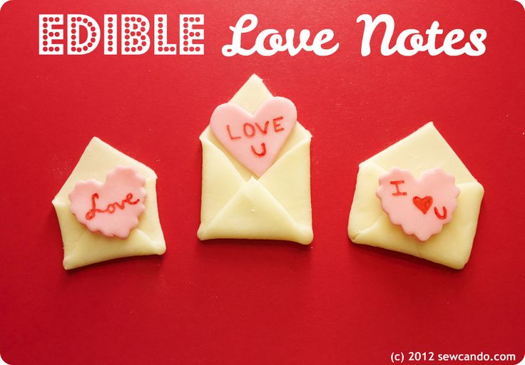 Want to give a unique Valentine this year? How about an edible one, complete with envelope you can eat too? You can use them as cupc...