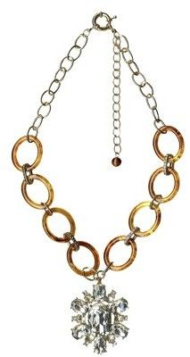Love this target necklace... but I think I could make my own with some tortoise links and an old pin!