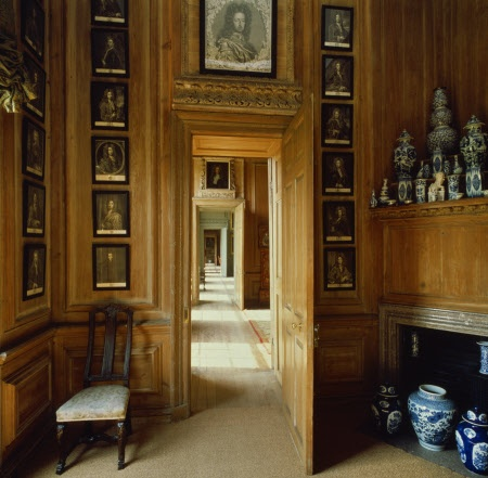 A view through the State Dressing Room at Beningbrough Hall showing an enfilade of doors through to other rooms.  ©National Trust Images