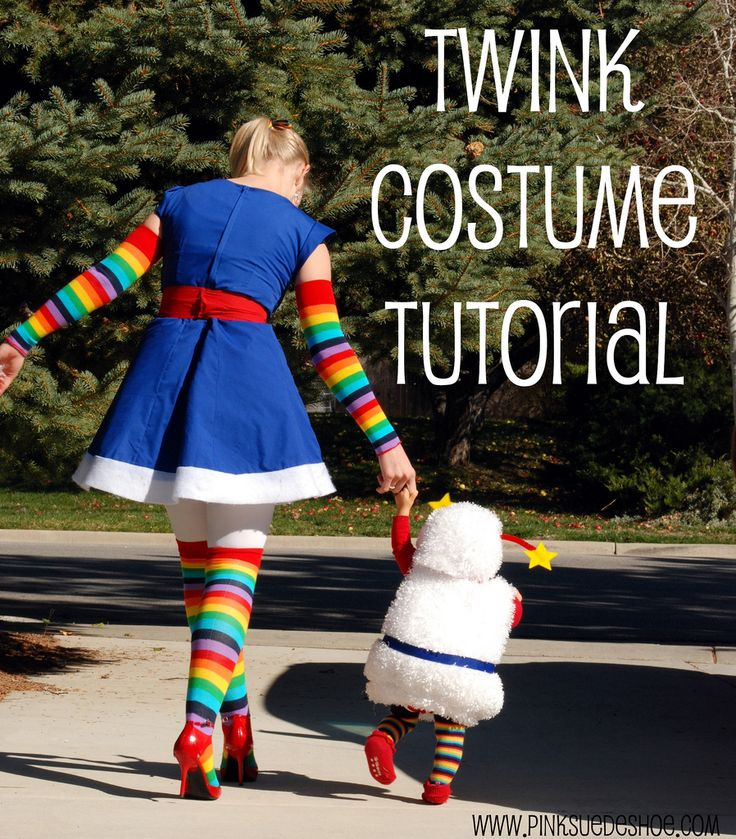 rainbow brite and twink costume diy tutorial - LOVE!