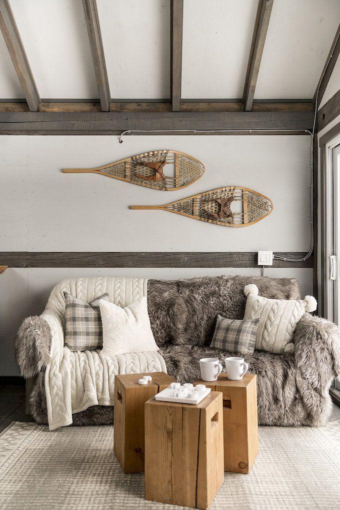 Genial Petit Chalet Vintage Salon Hygge Montagne Style Cosy Blog Déco Clem Around  The Corner Chalet Design