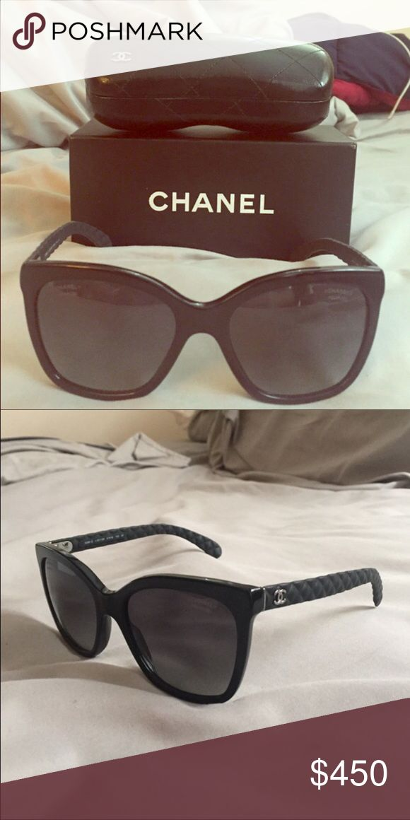 Authentic Chanel Sunglasses These are gorgeous black Chanel sunglasses. 100% Authentic. Brand new. No scratches on the lenses. Perfect for summer or winter. Comes with box and case. Only reasonable offers will be considered. Please use the offer button. CHANEL Accessories Sunglasses