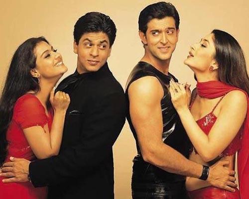 Khabhi Khushi khabhi ghum... The best family film with top cast.... Kajol, Sharukh, Hithrik, and Kareena