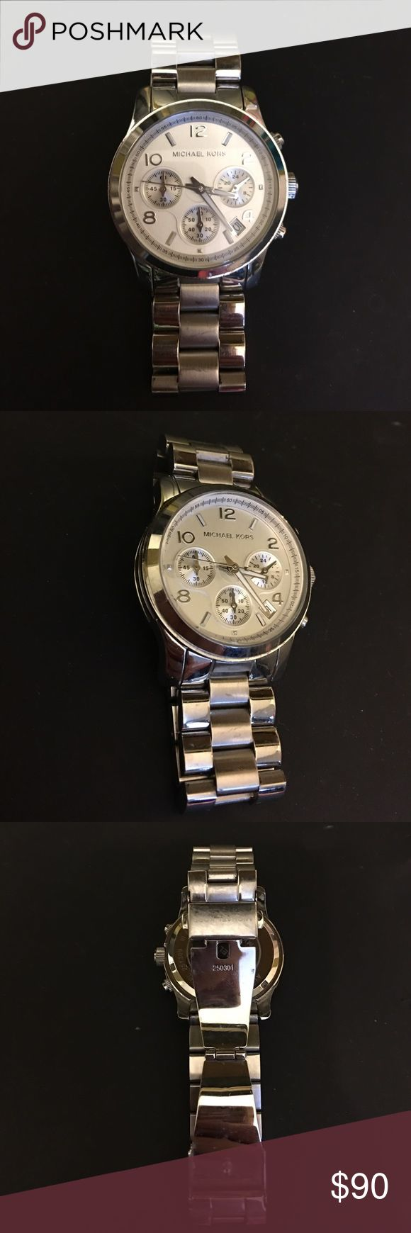 Women's michael kors chronograph watch mk5076 Some wear. No packaging. No extra links. Willing to negotiate. Michael Kors Accessories Watches