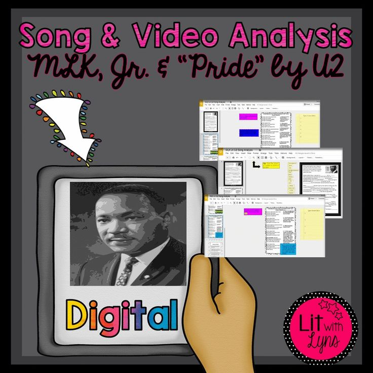 "Digital resource comparing U2's ""Pride: In the Name of Love"" lyrics and vi..."