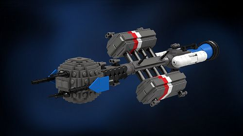 UNEN Elisa Taylor, Hamilton-class cruiser (now in New Courland colors) by Awesome O'saurus on Flickr