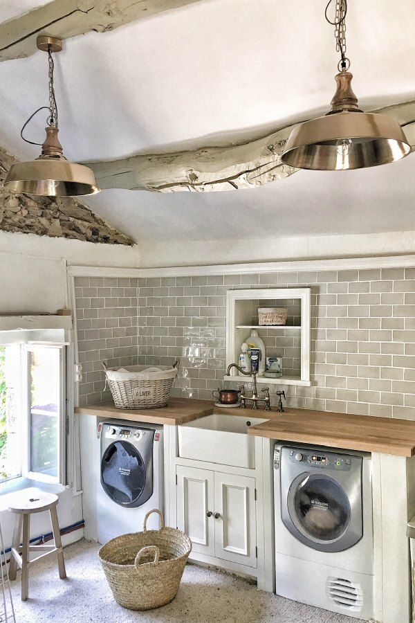 Laundry Room Beautiful French Farmhouse Design Inspiration Homewarearket Baskets From Vivi Et Margot Photos By Charlotte Reiss