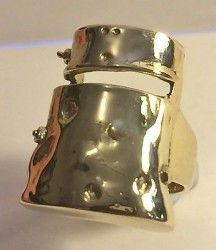 """2015 Stunning """"Ned Kelly""""  Men's Dress Ring (Size 13) Finished in 999 24k Gold"""