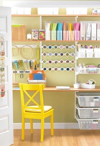 High Quality The Container Store Sycamore White Elfa Craft Closet. Craft Organization,  Maybe For The Play Room?