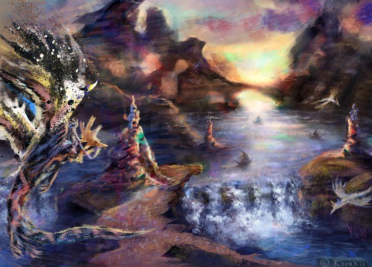 Fantasy Landscape Scene Korakis by alexkorakis.deviantart.com on @DeviantArt