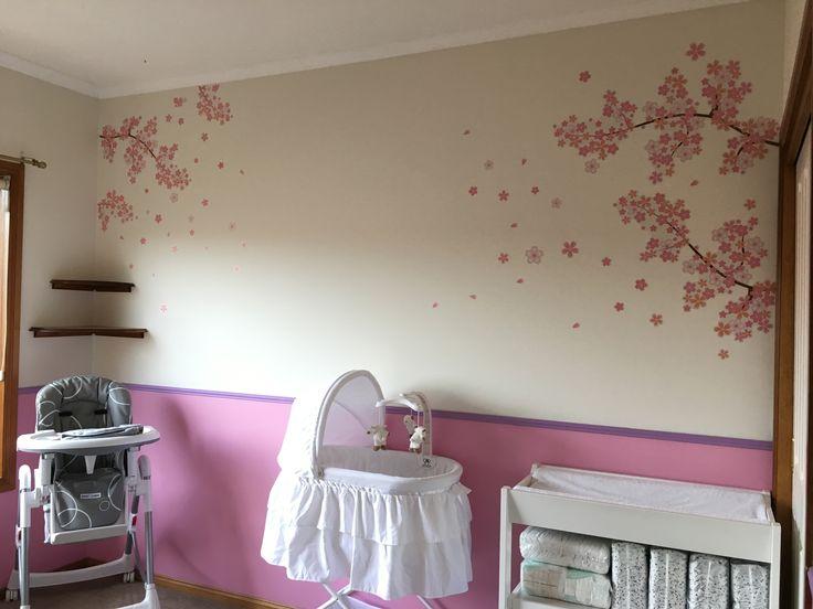 Baby cherry blossom decals