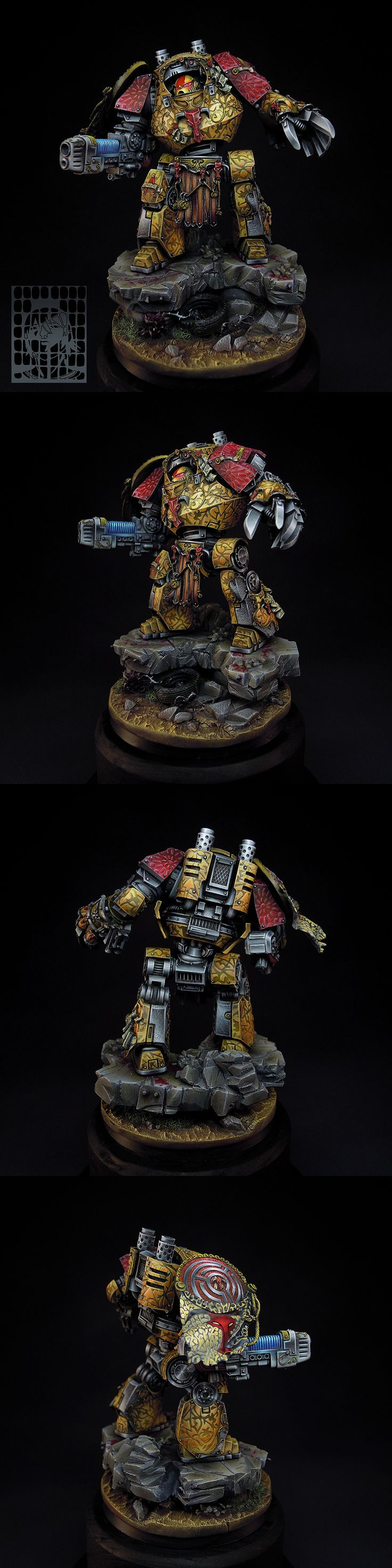Hecaton Aiakos Minotaurs Contemptor Dreadnought [commission] - Forum - DakkaDakka | So good we named it twice.