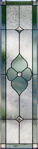 VIEW Victorian style stained glass transom window