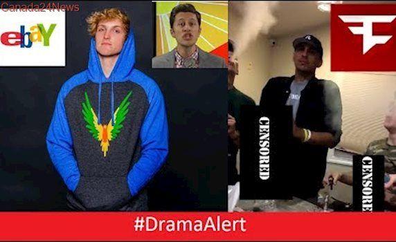 FaZe Rain & FaZe Adapt Do DRUGS! #DramaAlert Logan Paul vs EBAY! Youtubers QUITTING!