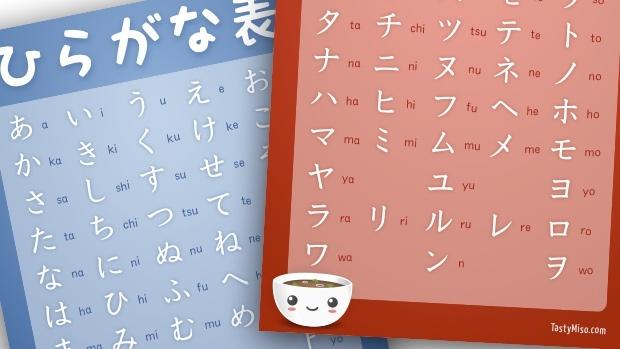 Hiragana and Katakana Charts by Tasty Miso, via Flickr