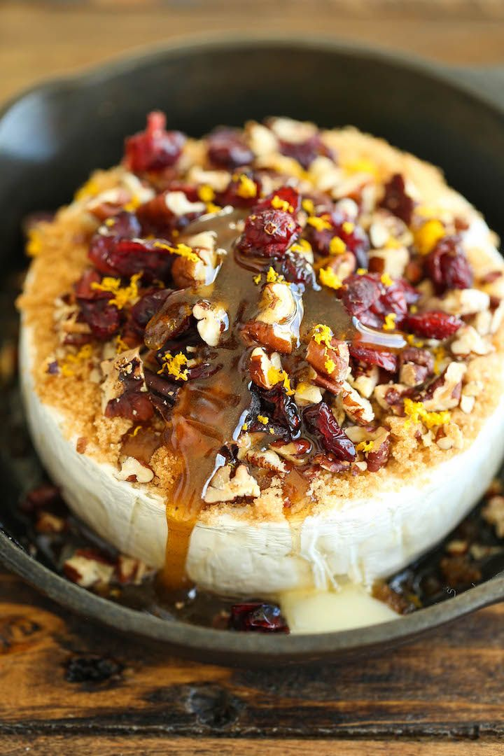 Cranberry Pecan Baked Brie - Simple, elegant and an absolute crowd-pleaser! Best of all, this is one of the easiest appetizers EVER with only 5-10 min prep!