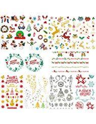Weihnachten Tätowierung Aufkleber Temporäre Tattoos Sticker Klebetattoos Zum A… – Beauty