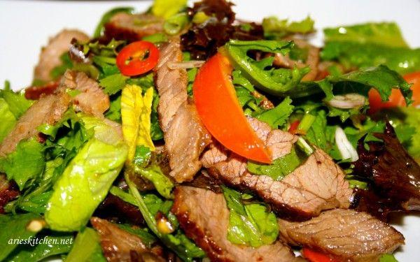 Thai Beef Salad Recipe ~ Resep Cara Membuat Salad Daging Sapi