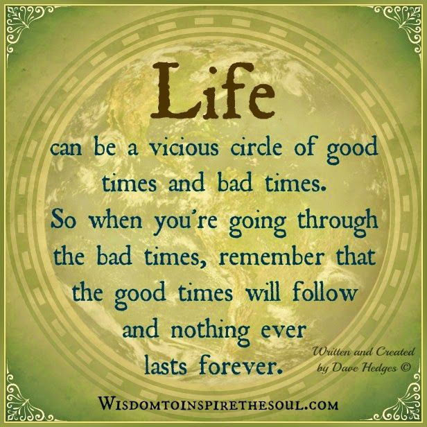 Wisdom To Inspire The Soul Life Can Be A Vicious Circle Needed