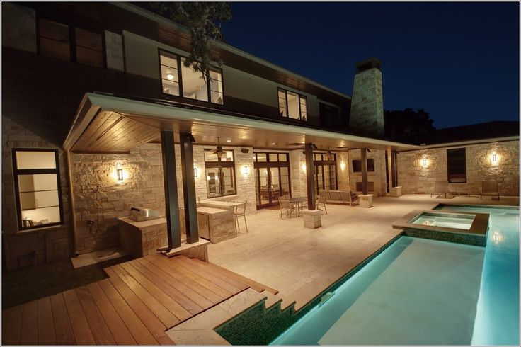 pool-contemporary-austin-ceiling-fan-ceiling-lighting-contemporary ... - Outdoor Covered Patio Lighting Ideas