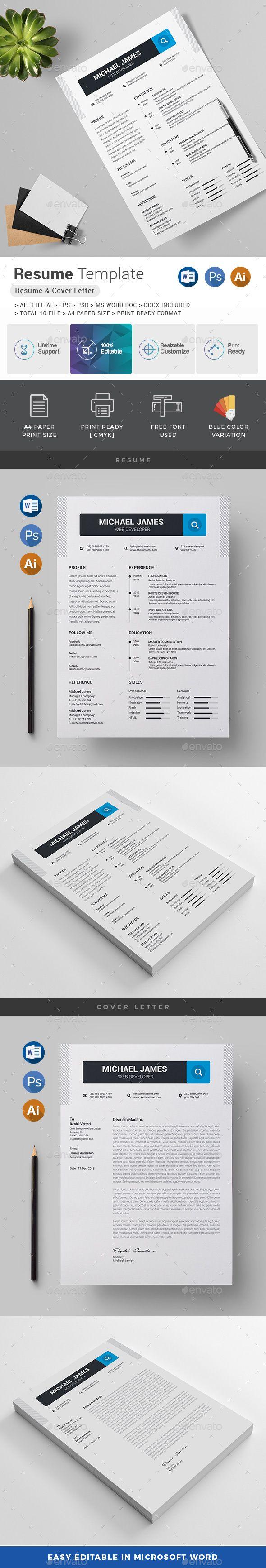3566 best Resume Templates images on Pinterest   Font logo, Resume ...