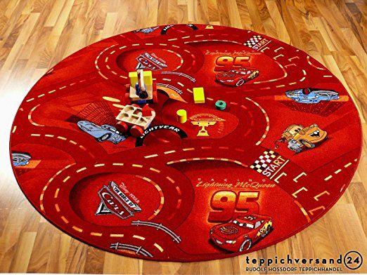 Kinder und Spielteppich Disney Cars Rot 160 cm Ø Rund