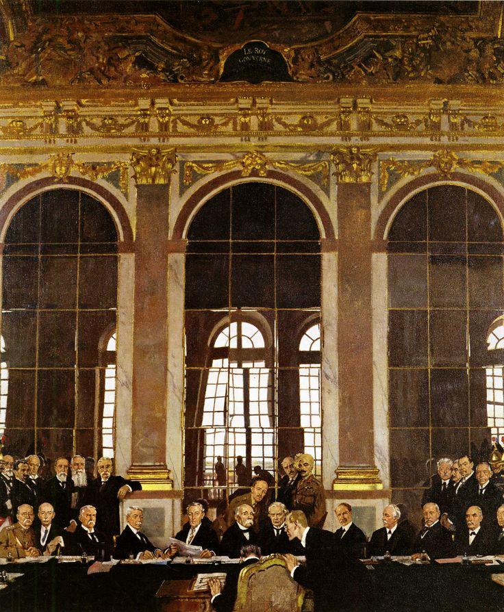 Der Friedensvertrag von Versailles (auch Versailler Vertrag, Friede von Versailles) wurde bei der Pariser Friedenskonferenz 1919 im Schloss von Versailles von den Mächten der Triple Entente und ihren Verbündeten bis Mai 1919 weitgehend festgelegt. De facto waren die Kampfhandlungen des Ersten Weltkriegs bereits mit der Unterzeichnung des Waffenstillstands von Compiègne am 11. November 1918 eingestellt worden.
