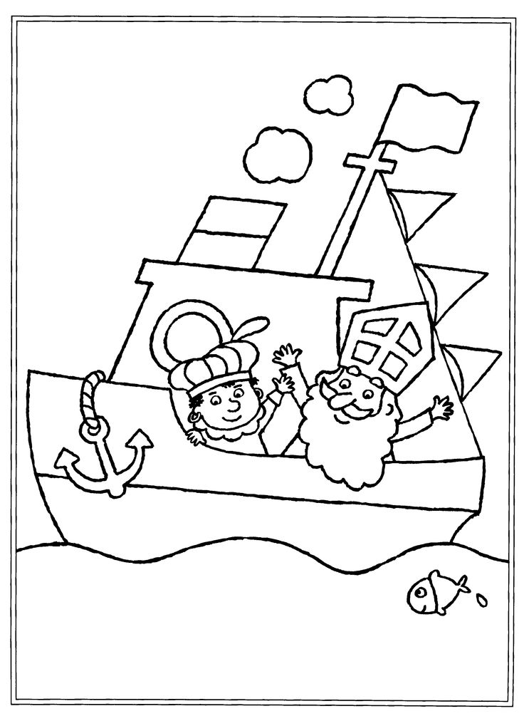 sinterklaas coloring pages - photo#38