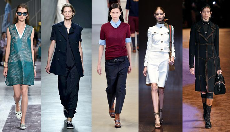 A gentleman touch in women's fashion shows