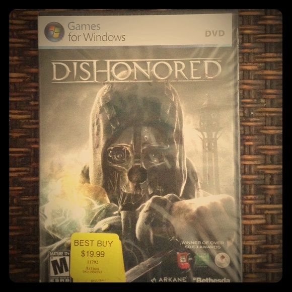 Dishonored PC Game New. Never opened. Great game. Other