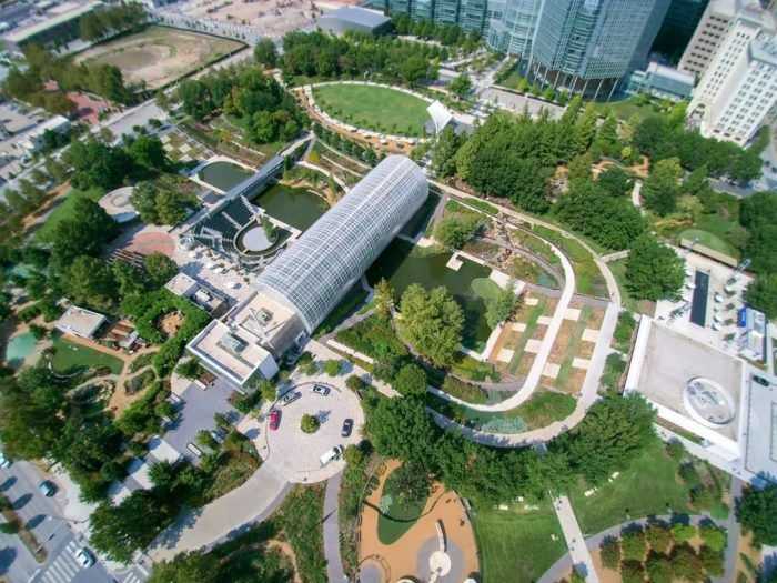 Located in the heart of downtown Oklahoma City, Myriad Botanical Gardens is a beloved outdoor/indoor garden and urban park with beautiful grounds.