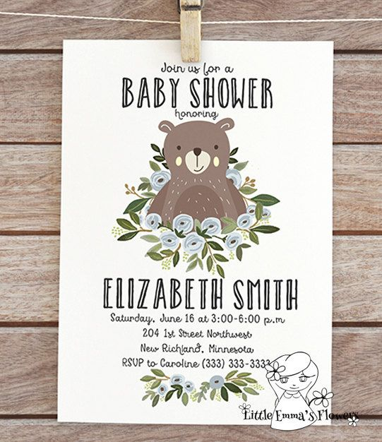forest invite woodland baby shower invitation woodland themed bear baby shower printable invitation party digital invite floral baby boy 114