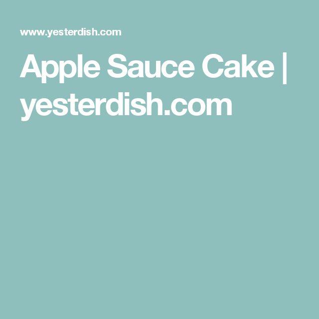 Apple Sauce Cake   yesterdish.com