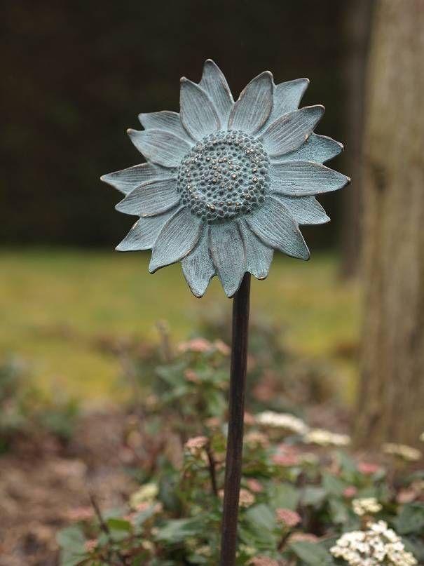 Solsikke blomst på bronzepind