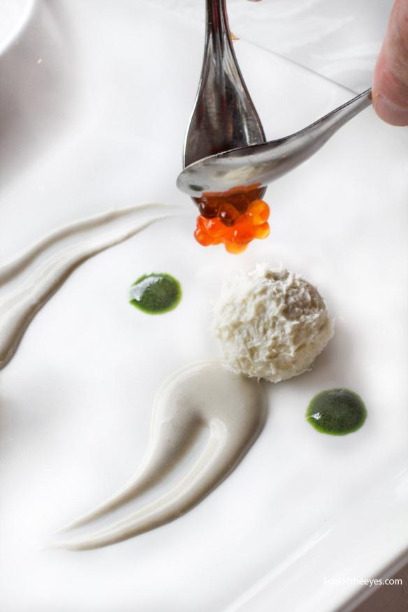 Baccalà mantecato alla veneziana con uova di salmone by food4theeyes.com